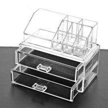 Акриловый органайзер для косметики Cosmetic Storage Box, Количество ящичков: 2