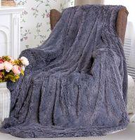 """Плед-одеяло с  длинным ворсом """"сирень""""  220х240 см №PL010"""