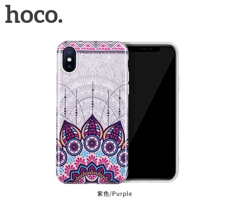 Защитный чехол HOCO Doren series для iPhoneX, пурпурный