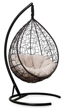 Подвесное кресло SEVILLA VERDE VELOUR каркас коричневый
