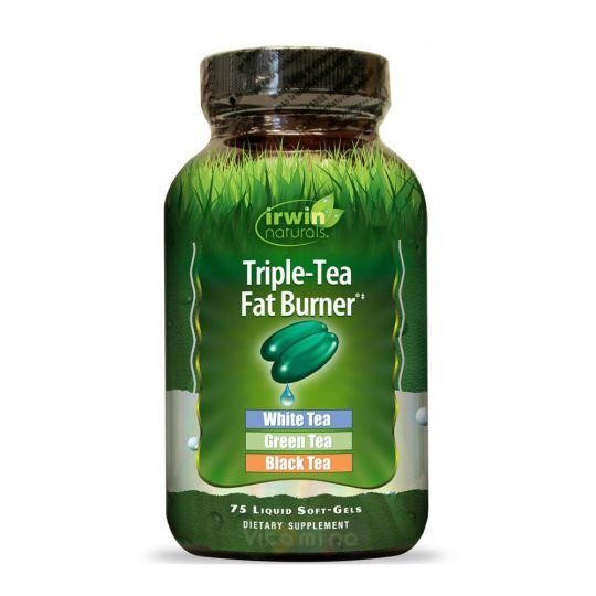 Irwin Naturals Жиросжигатель Triple-Tea Fat Burner, 75 капс