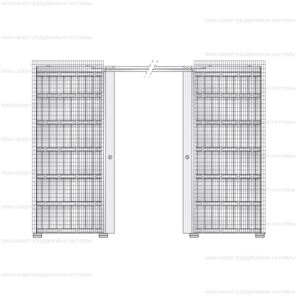 Пенал Eclisse Syntesis Line Double под штукатурку (полотно 2000/2100 мм)