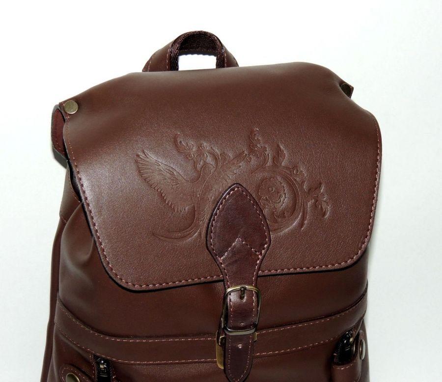 """Коричневый кожаный рюкзак  """"Стэффи"""""""