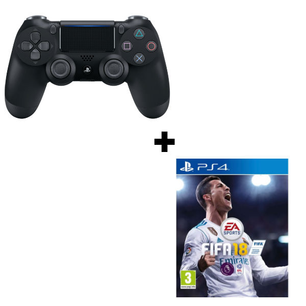 Геймпад Sony Dualshock 4 (ver.2) Black (PS4) + игра FIFA 18