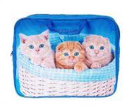 "Папка-сумка А4 36х27х8см ткань ""Котята в корзинке"" (арт. 2Ш48_1110) /20/"