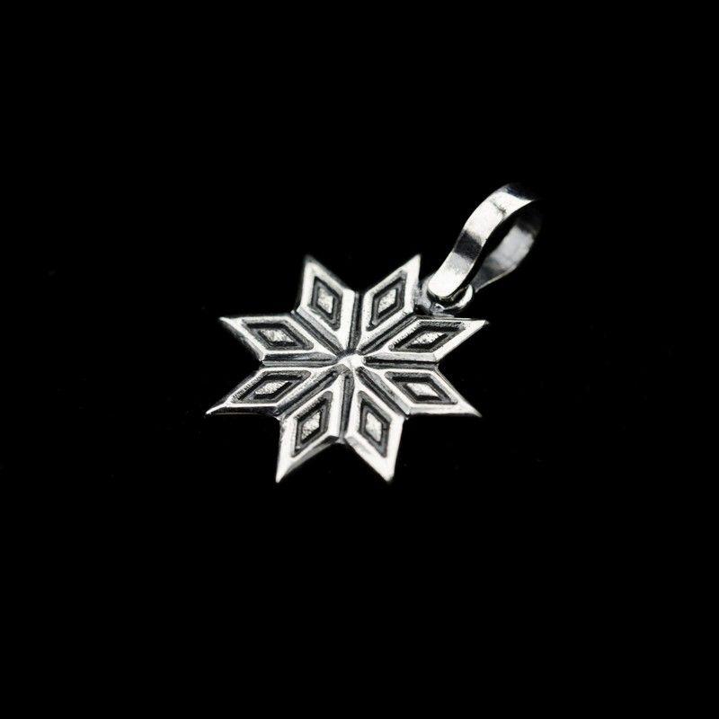 СЕРЕБРО Подвеска-оберег мал Алатырь