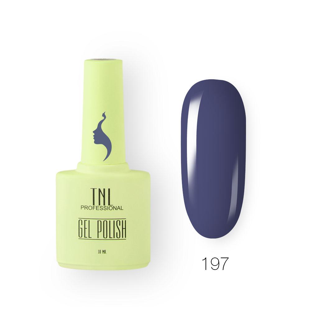 Гель-лак TNL 8 Чувств №197 - ночной синий (10 мл.)