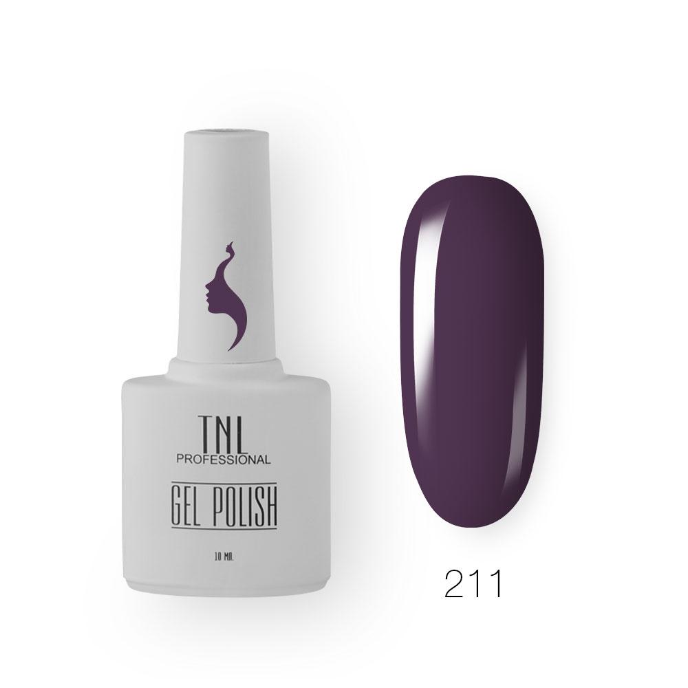Гель-лак TNL 8 Чувств №211 - пурпурное сердце (10 мл.)