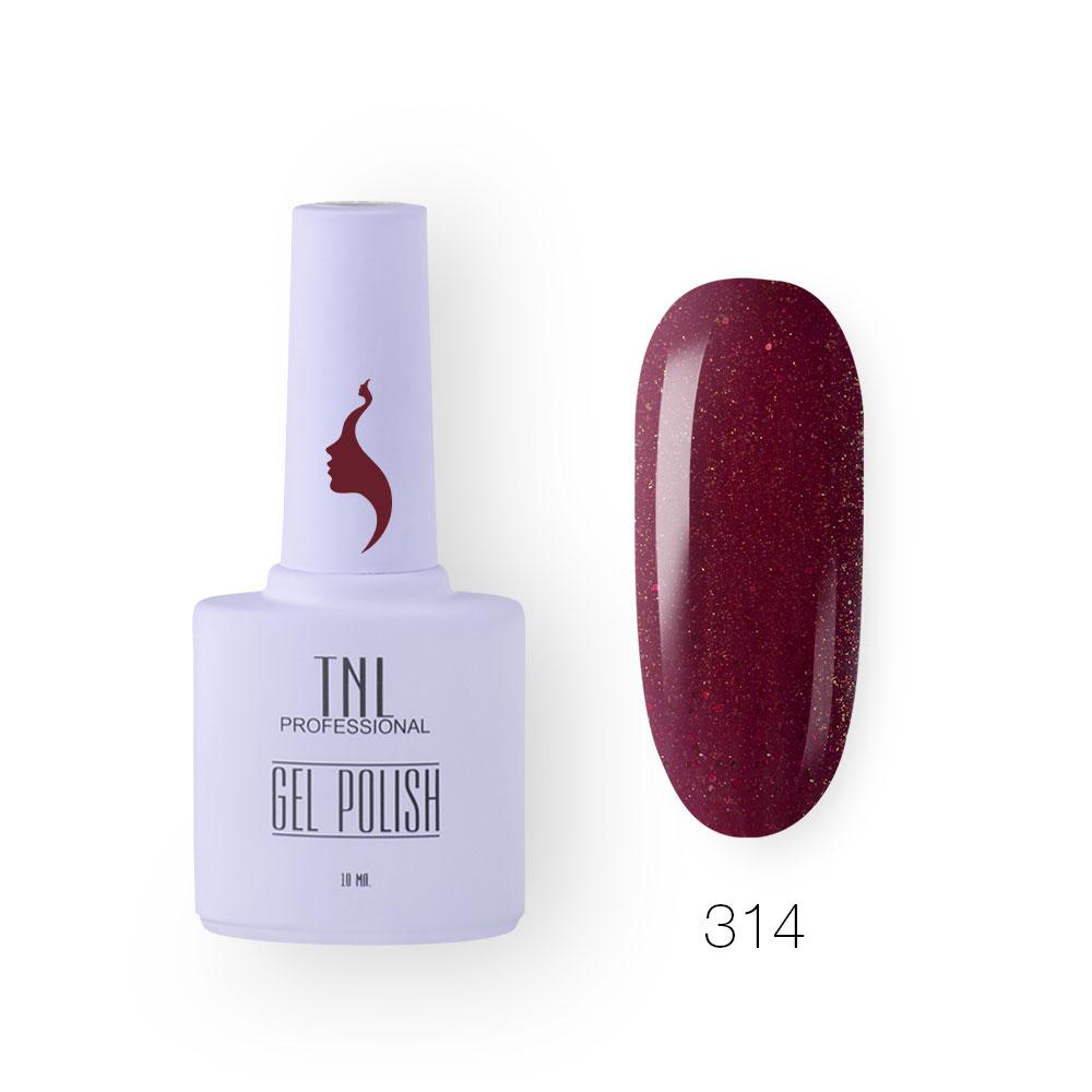 Гель-лак TNL 8 Чувств №314- вишневая пыль (10 мл.)