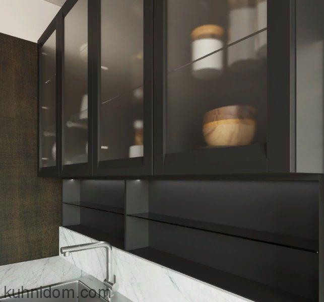 Кухня Afina с витринами