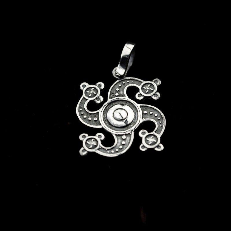 СЕРЕБРО Подвеска-оберег мал Символ Рода