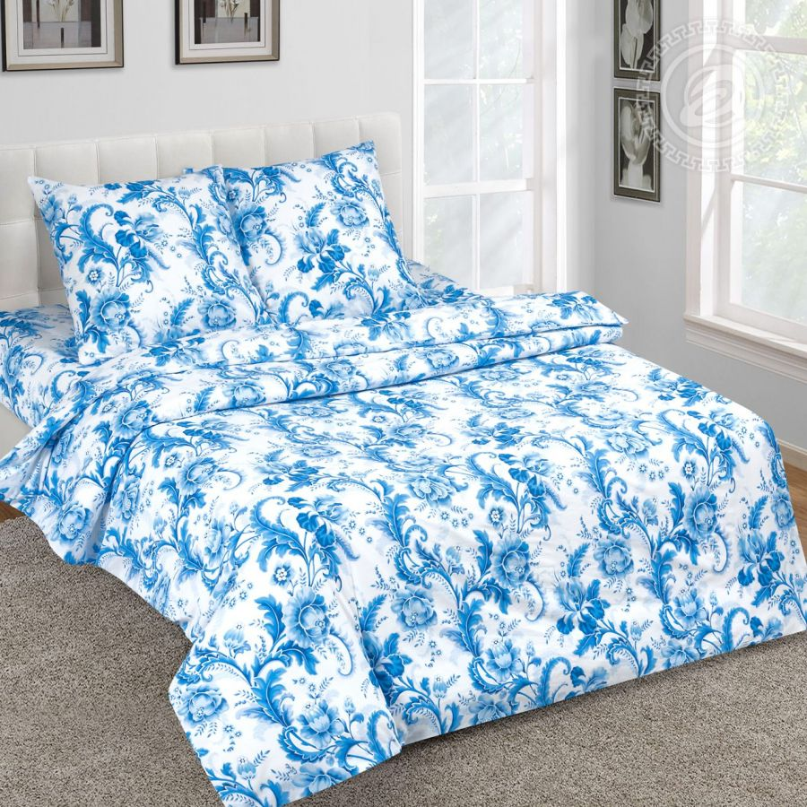 «Северина» (DE LUXE) постельное белье Поплин 1.5 спальный