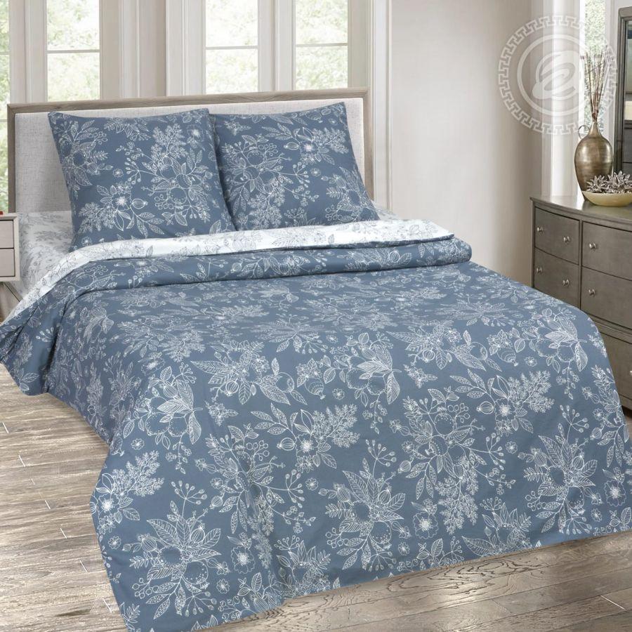 «Деметра» (DE LUXE с простынью на резинке) постельное белье Поплин Семейный
