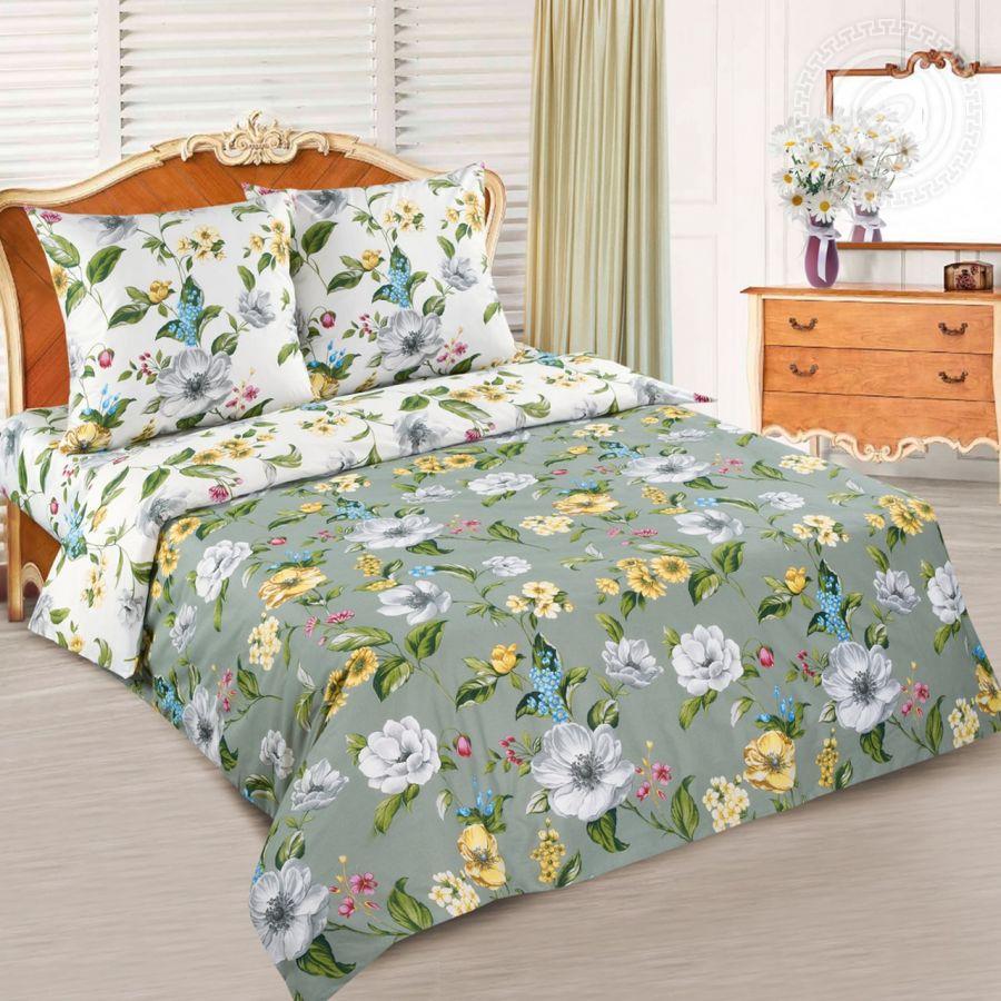 «Жаклин» (DE LUXE с простынью на резинке) постельное белье Поплин 2-х спальный