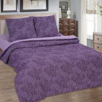 «Вирджиния (фиолетовый)» (Зима - лето) постельное белье Поплин 2-х спальный с евро