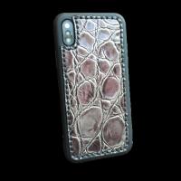 """Кожаный чехол-накладка """"Камень"""" на iPhone"""