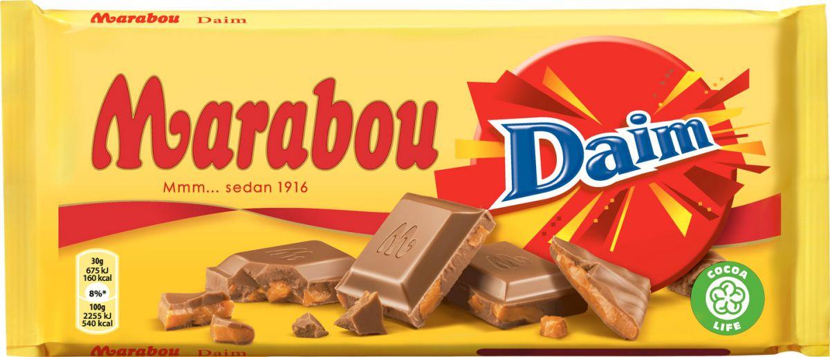 Шоколад Marabou Молочный шоколад Daim 200г