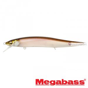 Воблер Megabass Vision Oneten Magnum F 130 мм / 17,7 гр / Заглубление: 0,5 - 1,2 м / цвет: Stealth Wakasagi