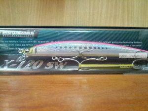 Воблер Megabass X-120 SW 120 мм / 12,5гр / Заглубление: 0,4 - 0,6 м / цвет: LZ Pink Iwashi (JP)