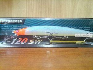 Воблер Megabass X-120 SW 120 мм / 12,5гр / Заглубление: 0,4 - 0,6 м / цвет: PM Moon Red Head (JP)