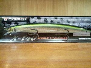 Воблер Megabass X-140 140 мм / 17,5гр / Заглубление: 0,2 - 0,5 м / цвет: Wagin Ayu (JP)