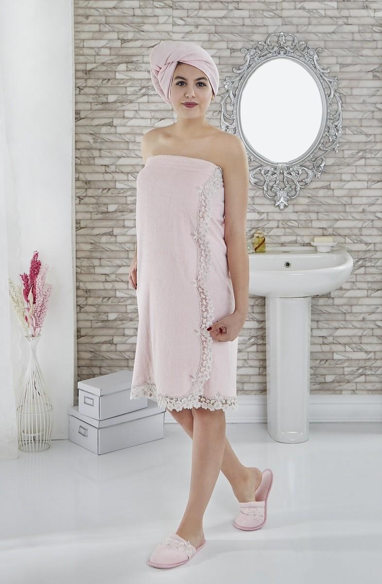 CLARA (розовая) Набор для сауны женский