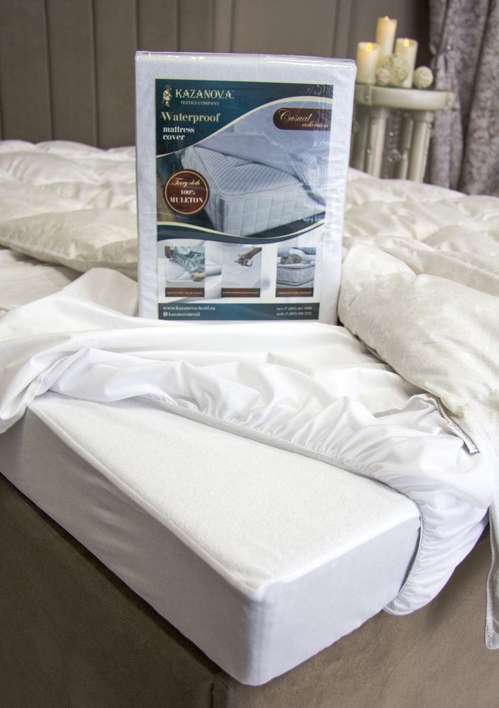 Waterproof mattress cover 160x200см
