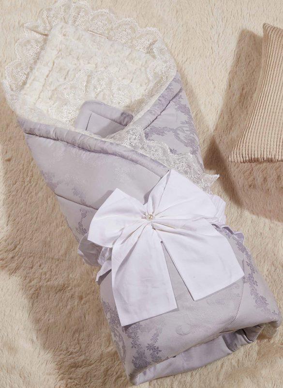Одеяло-конверт 1.0 Бамбини Кружево (лаванда) 100х100