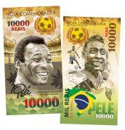 1000 Reais (реалов) Бразилия - Пеле. Король футбола (Edson Arantes do Nascimento. Brasil). Памятная банкнота