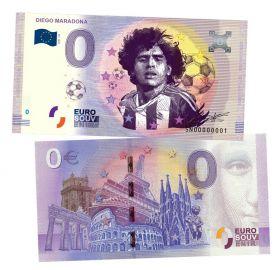 0 ЕВРО - Диего Марадона (Diego Maradona). Памятная банкнота