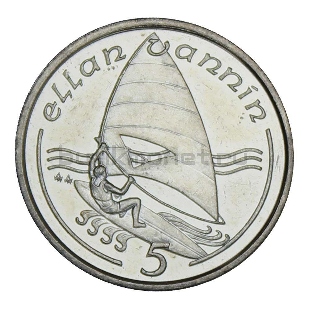 5 пенсов 1989 Остров Мэн