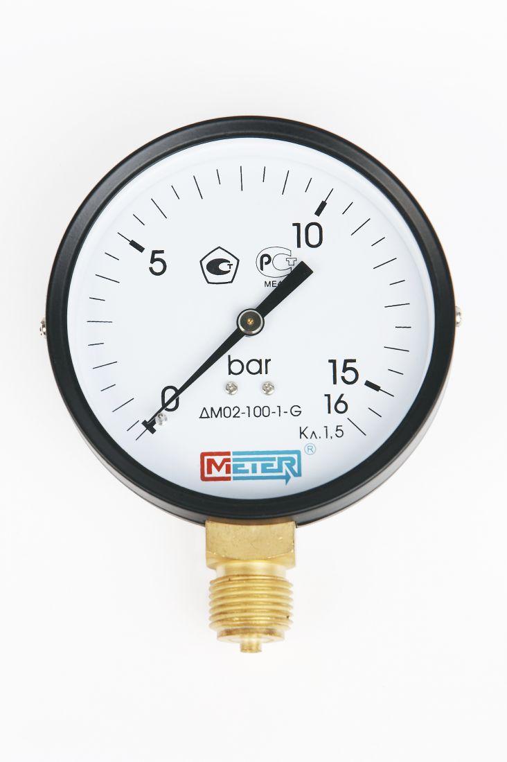 """Манометр ДМ02-100 радиальный Дк100мм 0-6 бар G1/2"""" Метер"""