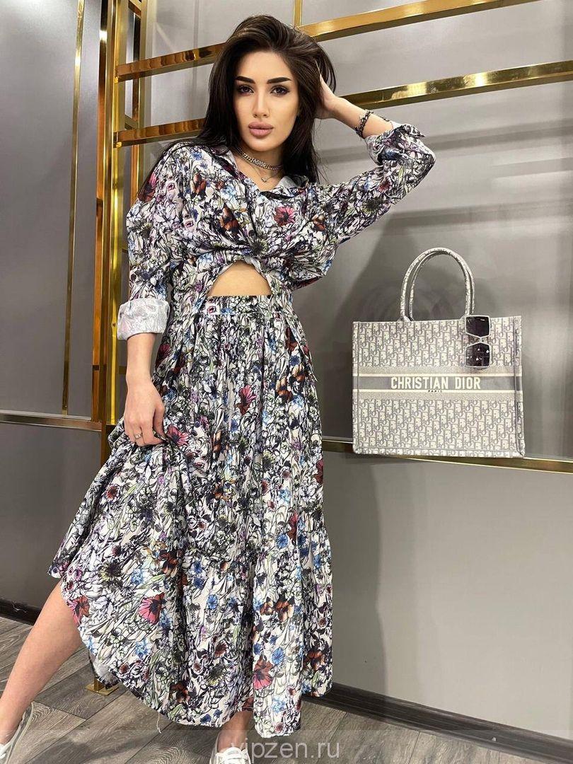 Роскошный комплект блуза и юбка в люкс исполнении