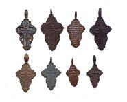 Крестики нательные 8 штук, 19 век