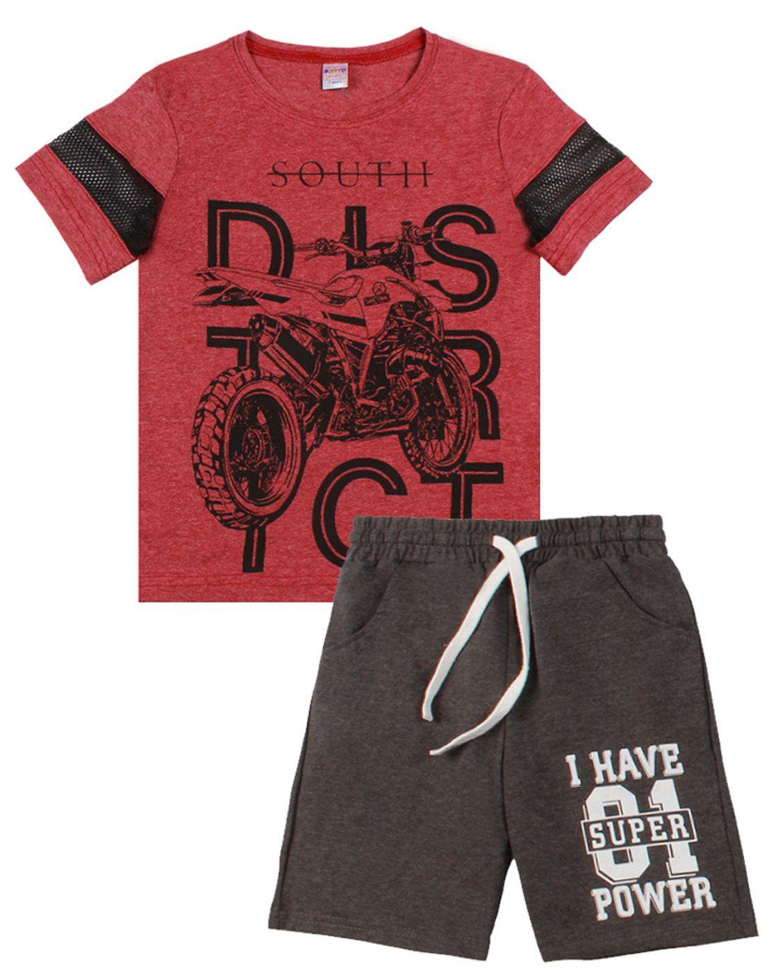 """Комплект для мальчика """"Urban style"""" бордовый"""