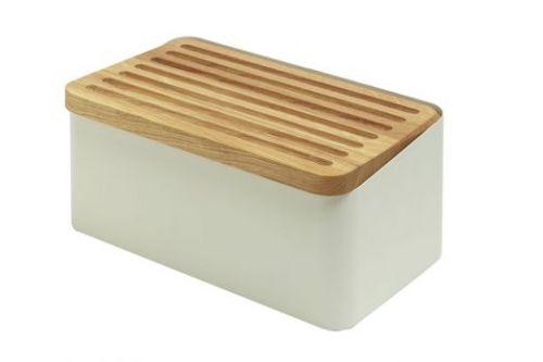 Хлебница Legnoart, с доской для нарезки, белая, серия CRISPY 002.023304.019