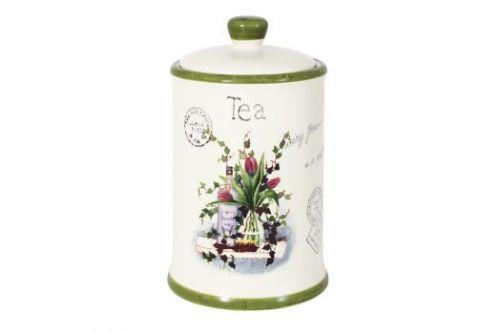 Банка для сыпучих продуктов (чай) Букет AL-175F6294-B-LF