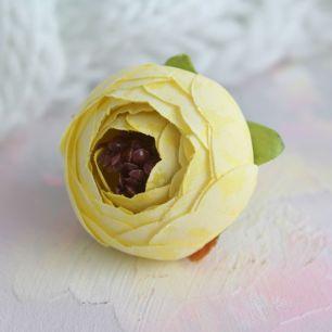 Цветок 3,5 см - тканевый Желтый