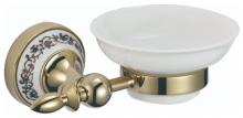 S-06859B SAVOL Durer Мыльница  керамическая, латунная.Золото