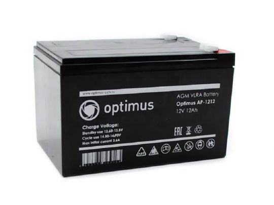 Аккумулятор Optimus 12-12 12 В 12 А/ч