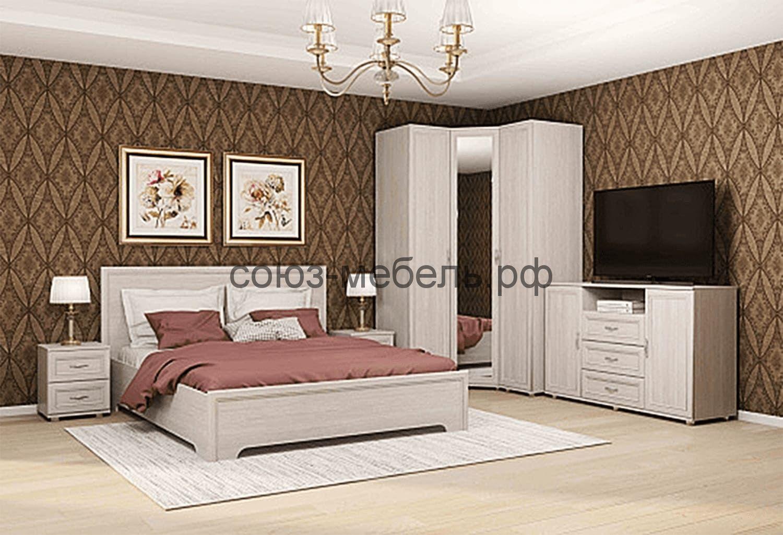 Спальня Классика (тумба ТМ+кровать КР+тумба ТБ+пенал ПУ+шкаф угловой Ш-УГ-Z+пенал ПУ)