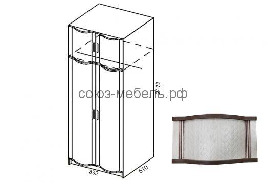 Спальня Симона (тумба ТМ 2шт+кровать с п/м КР-3+пенал с зеркалом ПУ-Z 2шт+шкаф ШУ+комод КМ+зеркало Z)