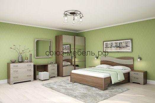 Спальня Сорренто (угол УГ+шкаф-купе ШК+тумба ТБ+кровать КР-3 с П/М (п. место 1600х2000)+тумба ТБ)