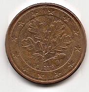 5 евроцентов Германия 2010 А регулярная из обращения