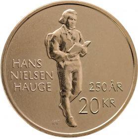 250 лет cо дня рождения Ханса Нильсона Хауге  20 крон Норвегия 2021