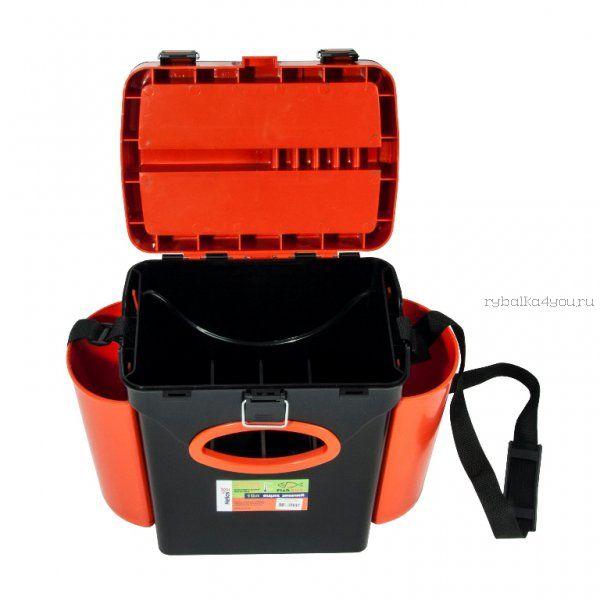 Ящик зимний рыболовный Helios FishBox, 10л, оранжевый