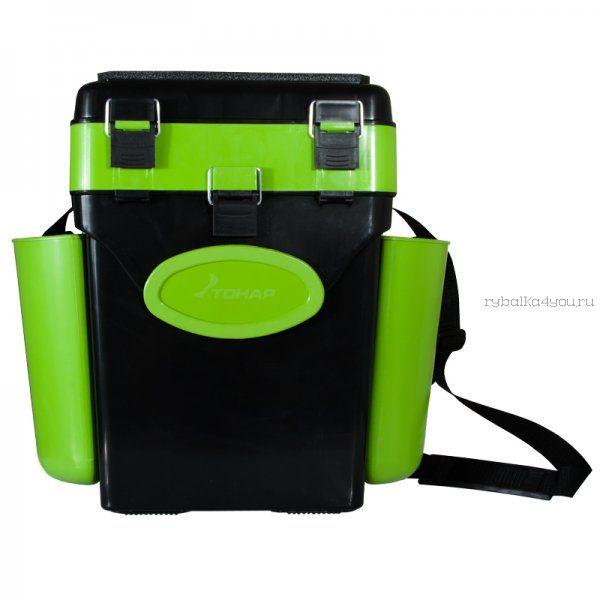 Ящик зимний рыболовный Helios FishBox, 10л, зеленый