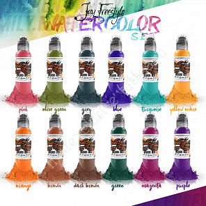 World Famous Ink JAY FREESTYLE WATERCOLOR SET 1 oz