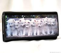 Кожаный кошелёк Белые Ангелы