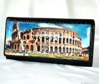 Кожаный кошелёк женский Колизей